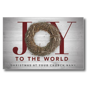 Joy Twig Wreath Postcards