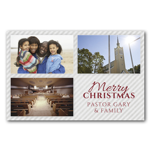 Your Photos Here Christmas Grid 3 Postcards