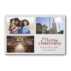 Your Photos Here Christmas Grid 3 Postcard