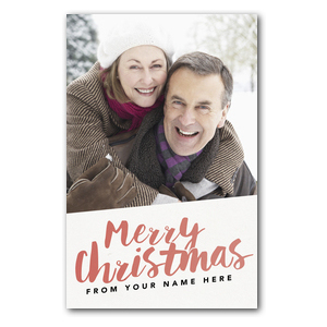 Your Photo Here Merry Christmas Postcards