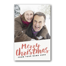 Your Photo Here Merry Christmas Postcard