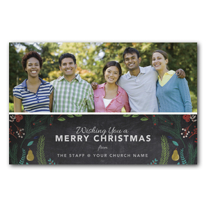 Your Photo Here Chalk Christmas Postcards