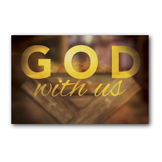 God With Us Manger Postcard