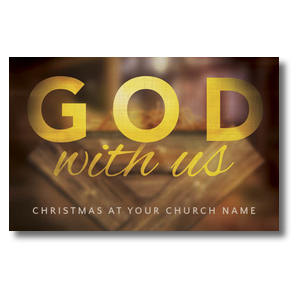God With Us Manger Postcards