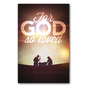 For God So Loved Nativity Postcards