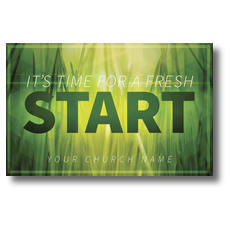 Green Grass Start Postcard