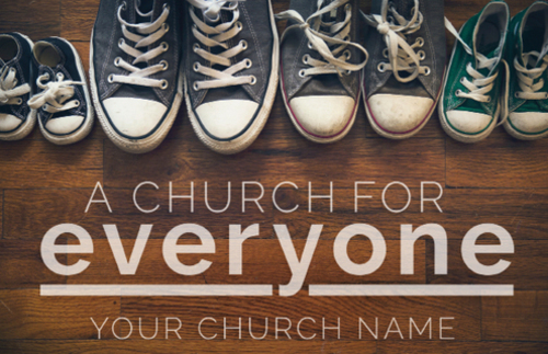 Everyone Shoes Postcard Church Postcards Outreach