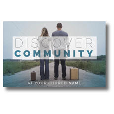 Discover Community People Postcard
