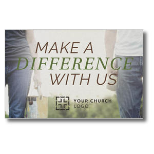 Make a Difference With Us Postcards