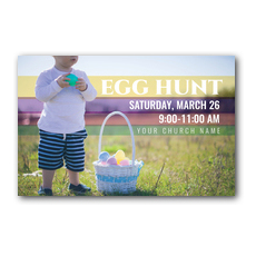 Egg Hunt Toddler Postcard
