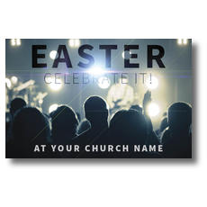 Easter Crowd Postcard