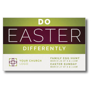 Do Easter Differently Postcards