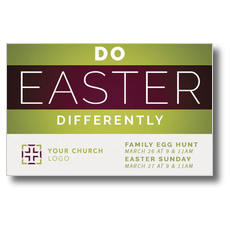 Do Easter Differently Postcard