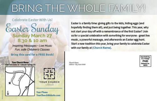 Easter is for everyone postcard church postcards outreach marketing image 2 negle Images