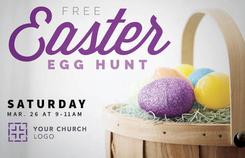 Easter Egg Hunt Postcard Church Postcards Outreach