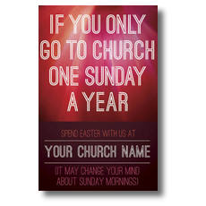 One Sunday a Year Postcard
