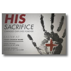 His Sacrifice Postcard