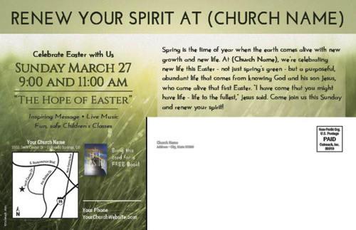 Alive Easter Postcard Church Postcards Outreach Marketing