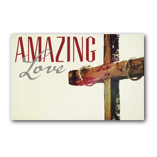 Amazing Love Cross Postcard