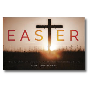 Easter Cross Church Postcards