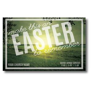 Easter to Remember Green Postcards