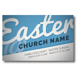 Blue White Easter At 4/4 ImpactCards