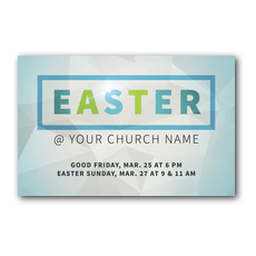 Easter At Rectangle Postcard