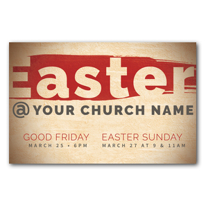 Easter At Red Brushstroke Postcards