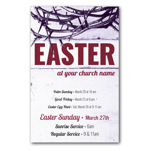 Easter Crown of Thorns Postcards