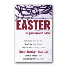 Easter Crown of Thorns Postcard