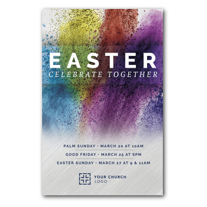 Easter Powder Paint Postcards