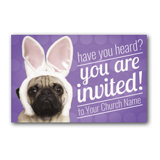 Easter Pug Postcard