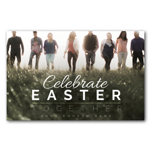 Easter Together People Church Postcards