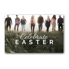 Easter Together People Postcard