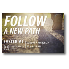 Follow a New Path Postcard