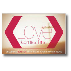 Love Comes First Postcard