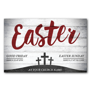 Red Easter Postcards