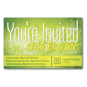 You're Invited Easter Green Postcards