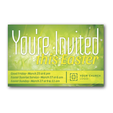 You're Invited Easter Green Postcard