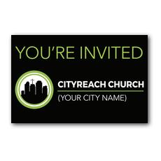 CityReach Black Postcard