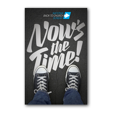 Back to Church Sunday: Nows the Time Postcard