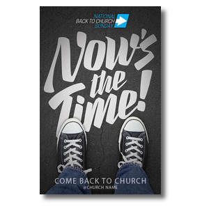 Back to Church Sunday: Nows the Time Postcards