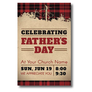 Father's Day Plaid 4/4 ImpactCards