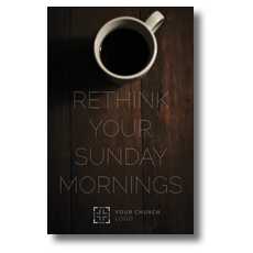 Sunday Morning Coffee Postcard