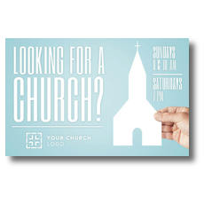 Looking Church Postcard
