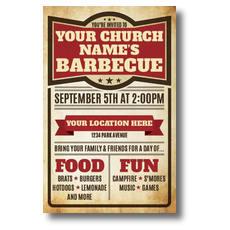 BBQ Details Postcard