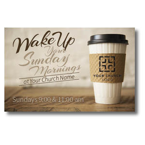 Coffee Invite Church Postcards