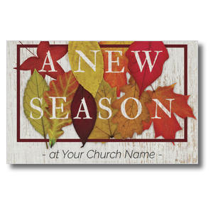 Fall Season Leaves Postcards