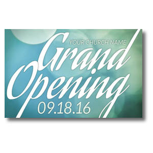 Grand Opening Blue Lights Church Postcards