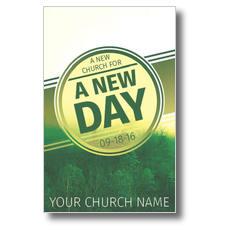 Green New Day Church Postcard